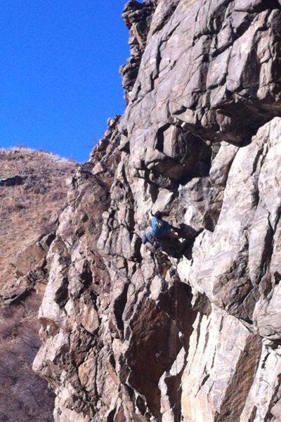 Rock Climbing Photo: Cassidy Hill on Waterfalls.  Photo taken by Derek ...