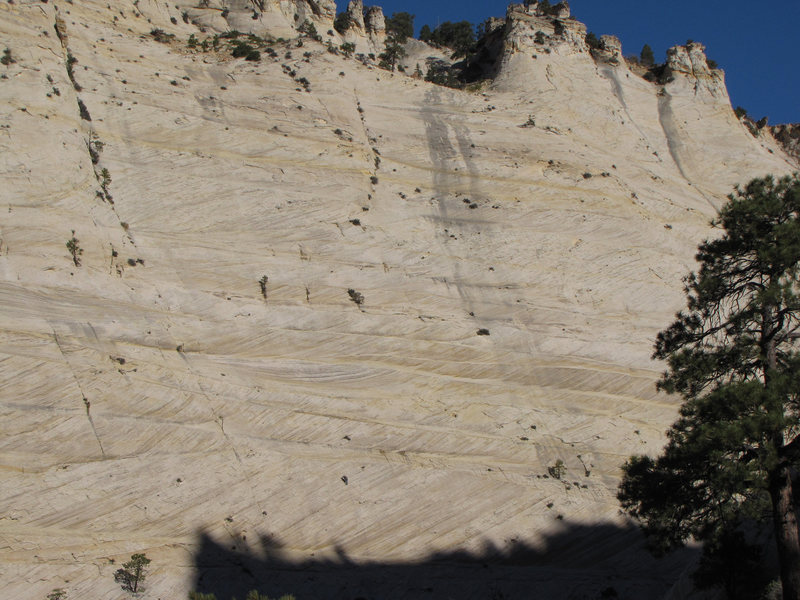 Rock Climbing Photo: Jonathan on pitch two. See climber at bottom cente...