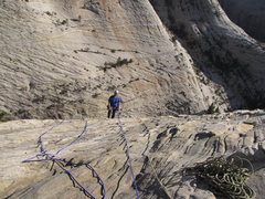 Rock Climbing Photo: Brian C. hiking last pitch.