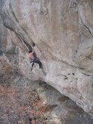 Rock Climbing Photo: Sticking the jug.