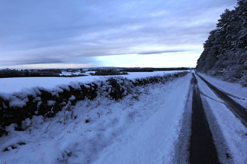 A snowy December day in Northumberland