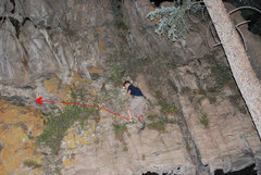 Rock Climbing Photo: Downclimb.