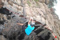 Rock Climbing Photo: Follow the roof line.