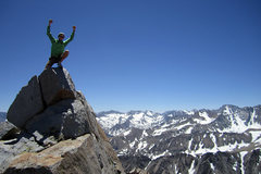 Rock Climbing Photo: Mt Emerson Sierras, CA