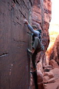 Rock Climbing Photo: Myself on Living on Borrowed Time. A fun lead. Pho...
