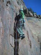 Rock Climbing Photo: Just before the crux on pitch 3.