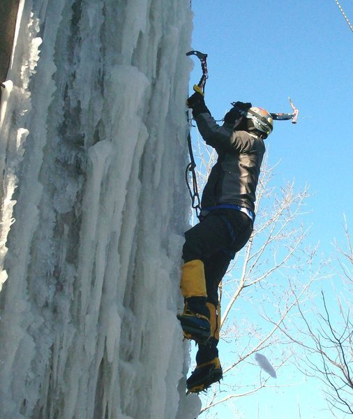 Rock Climbing Photo: Early ice
