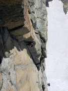 Rock Climbing Photo: Daniele H on the wicked second pitch of the Nieder...