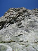 Rock Climbing Photo: Pitch five of the Niedermann-Anderrüthi, in the u...
