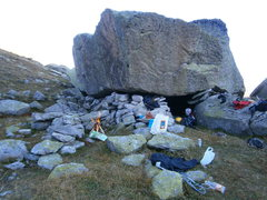 Rock Climbing Photo: five star accommodations at the plateau underneath...