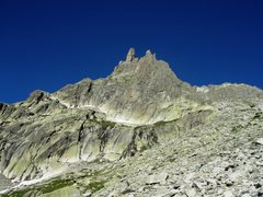 Rock Climbing Photo: Winterstock south face - all routes begin from the...