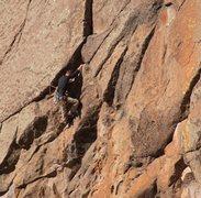 Rock Climbing Photo: Wade on the .10- bulge.