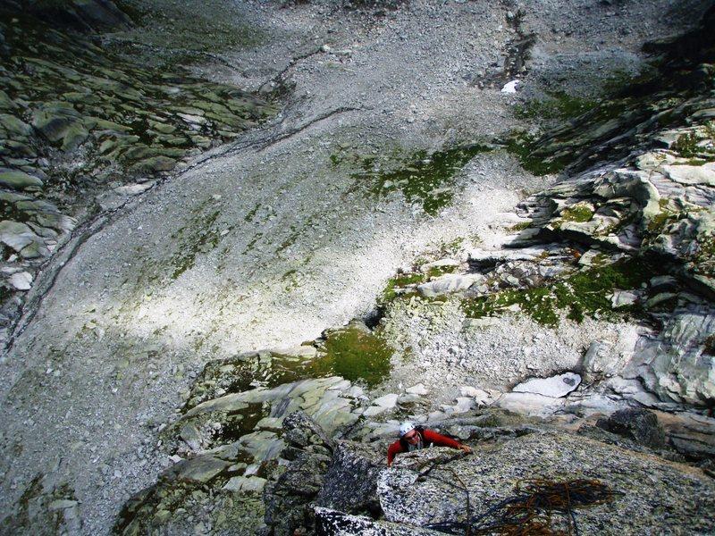 Rock Climbing Photo: The final pitch of Mangolyto