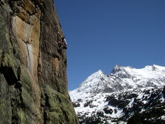 Rock Climbing Photo: Ossian B, cragging in hell on the east side of the...