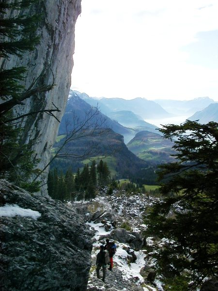 Rock Climbing Photo: Crag at Ibergeregg, overlooking Lake Lucerne