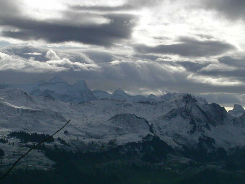 Rock Climbing Photo: Central Switzerland after a fresh dusting of snow....