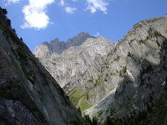 Rock Climbing Photo: Salbit west ridge, from the Voralp valley near Gö...