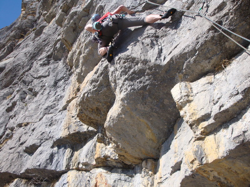 The challenging (particularly for big folks) traverse early in pitch five of Technoparty