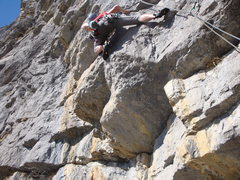 Rock Climbing Photo: The challenging (particularly for big folks) trave...