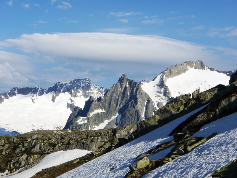 Salbit, with a good view of the west, south and east ridges.  Taken from Oberalp.