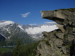 Rock Climbing Photo: Damma glacier, taken from above Goescheneralp