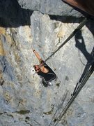 Rock Climbing Photo: A demanding finale to the route Roter Punkt