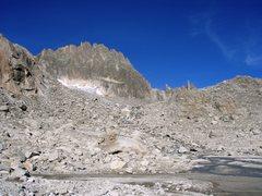 Rock Climbing Photo: Gross Bielenhorn southwest face. Taken in the autu...