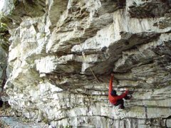 Rock Climbing Photo: Wicked roof climbing in Arcegno, Ticino