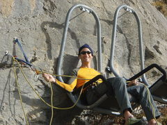Rock Climbing Photo: Most comfortable belay.  Ever.