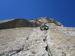 Rock Climbing Photo: Pitch two of Schwoabaweg