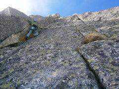Rock Climbing Photo: pitch four of Schwoabaweg
