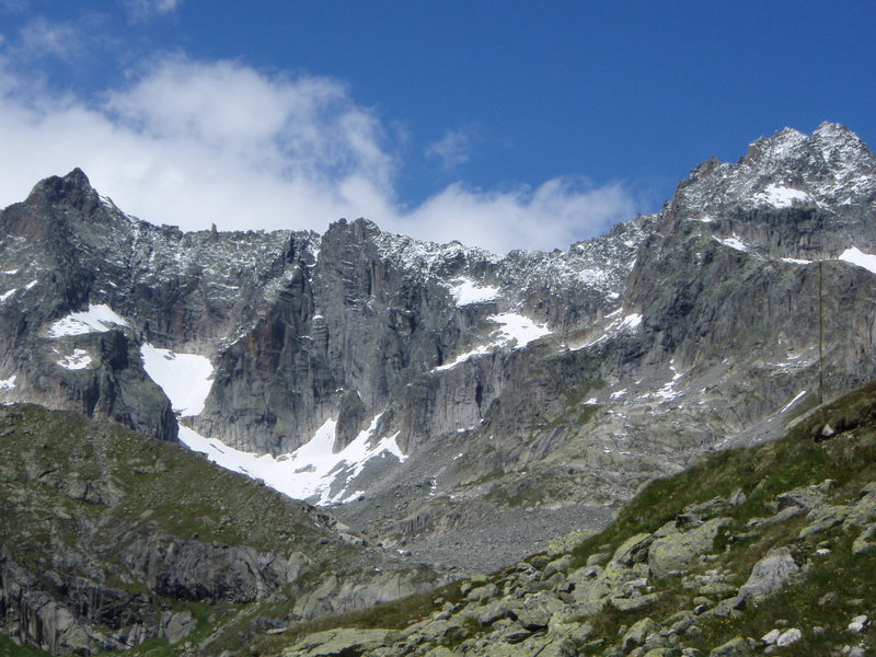 Rock Climbing Photo: The Graue Wand, from the trail leading to the Albe...