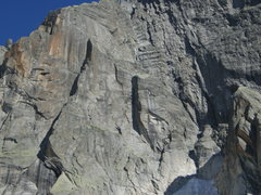 Rock Climbing Photo: The left side of the Graue Wand, with the routes C...