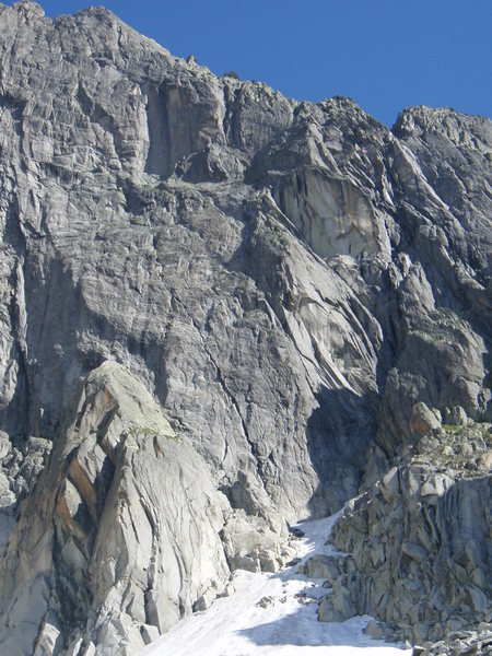 Rock Climbing Photo: The right side of the Graue Wand, with the routes ...