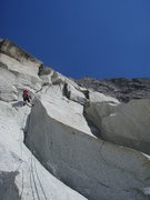 Rock Climbing Photo: The impressive first pitch of Conquest, a stout 6a...