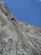 Rock Climbing Photo: Fantastic face climbing on pitch five of Conquest ...