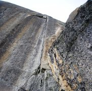 "Rock Climbing Photo: The ""super fissure"" and signature of the..."
