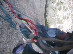 Rock Climbing Photo: My view on the hanging belay of Hanging Gardens.
