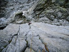 Rock Climbing Photo: Pitch one of the Niedermann (5c)