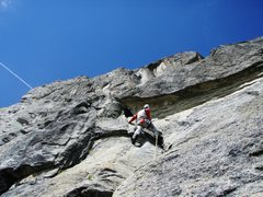 Rock Climbing Photo: Pitch two of Niedermann (5c)