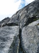 Rock Climbing Photo: Pitch seven of Niedermann (5b)