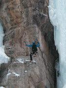 Rock Climbing Photo: Airborne on Dizzy, Jan. 2006.