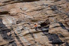 Rock Climbing Photo: Climber on Shere Khan.
