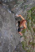 Rock Climbing Photo: Joel staring down the stem box.  Wade Forrest Phot...