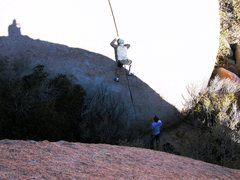 Rock Climbing Photo: awesome boulder problem on the way to the patina w...