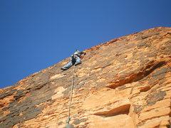 Rock Climbing Photo: mikey leading impacted molar