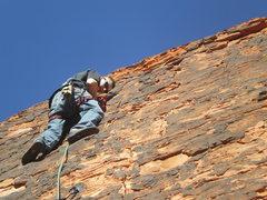 Rock Climbing Photo: struggling with the gear, beginners unluck