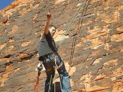Rock Climbing Photo: i dont look so good-- damn sun