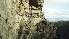 Rock Climbing Photo: Climber on Birthday Tick in early December