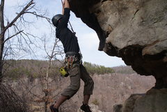 Rock Climbing Photo: Doing a jump start.